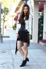 Black-ankle-boots-sam-edelman-boots-white-mesh-basic-house-dress