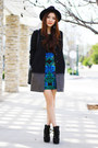 Black-ankle-boots-charlotte-russe-boots-blue-prints-charlotte-russe-dress