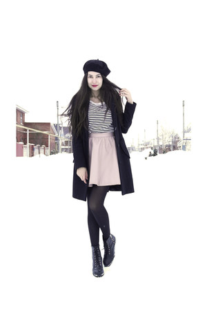 H&M boots - H&M sweater - H&M skirt