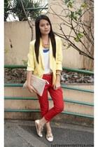 WAGW blazer - Gap pants - Cole Vintage flats - AG Cordeshoppe necklace