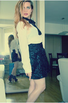 Stradivarius skirt - Jeffrey Campbell shoes - Mango shirt