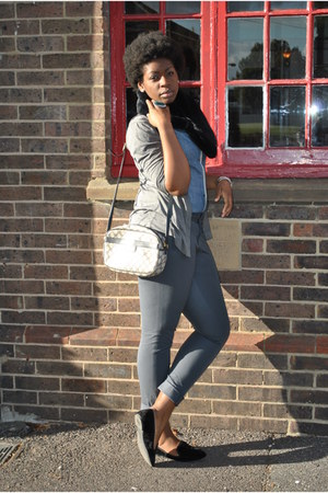 Gap top - Zara cardigan - banana republic pants - Gucci vintage purse - Zara sho