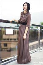 maroon Kravets dress