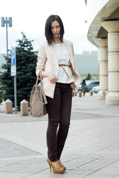 H&M blazer - Michael Kors bag - Zara top