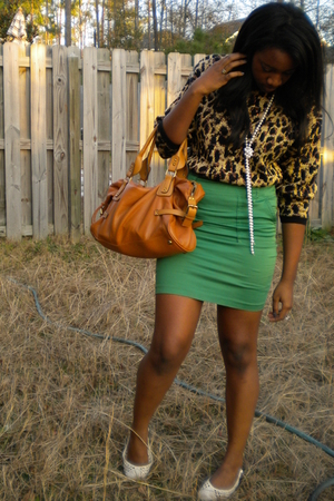 green luella bartley for target skirt - gold Goodwill sweater - brown Urban Outf