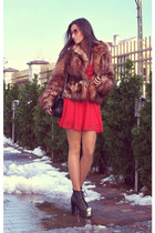 H&M jacket - Jeffrey Campbell boots - Love dress - Chanel bag - asos belt