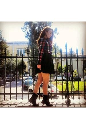 black black Accessorize boots - black black Mango skirt