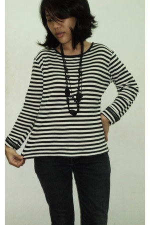 stripe top - necklace