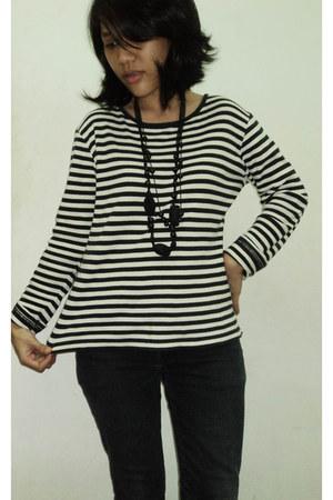 stripe top - necklace