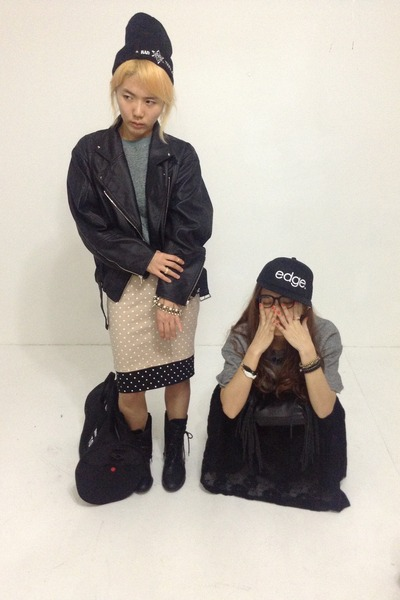 black havepp boots - black havepp hat - black havepp jacket - teal havepp shirt
