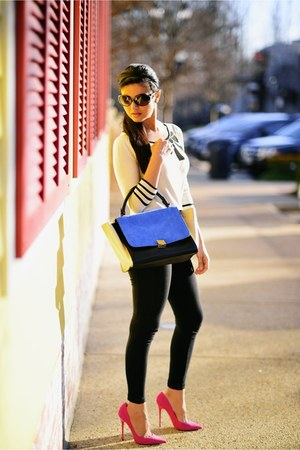 Loft sweater - black Celine bag - Jimmy Choo pumps
