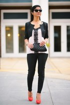 Express blouse - Topshop leggings