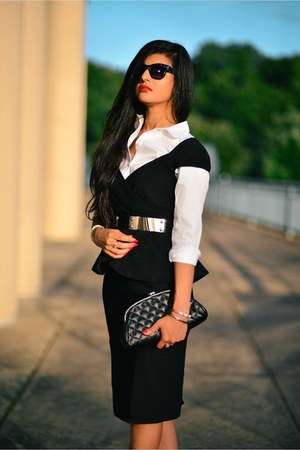 Little Mistress dress - ann taylor shirt - Chanel bag - asos belt