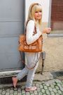 Brown-laysa-rosa-accessories-beige-zara-cardigan-silver-vintage-pants-pink