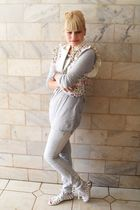 white Siberian shoes - silver Renner pants - silver Zara t-shirt - white Laysa R
