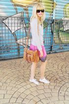 silver Zara top - pink Laysa Rosa skirt - white Siberian shoes - black C e A sun