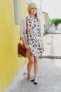 Silver-zara-cardigan-white-vintage-dress-white-riachuelo-shoes