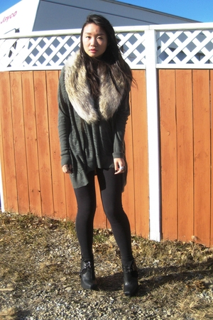 H&amp;M scarf - Vero Moda sweater - sam edelman boots