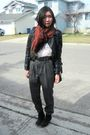 Black-zipia-jacket-gray-zara-pants-white-american-apparel-t-shirt-black-al