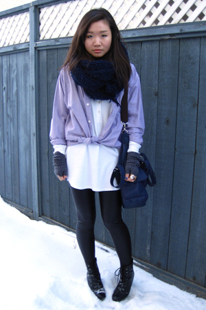 Gap shirt - Talula top - Talula leggings - Zara scarf - ardenes gloves