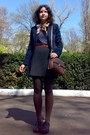 Thrifted-belt-mbg-blazer-scarf-zara-purse-thrifted-skirt-blouse