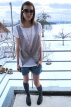 Zara shirt - Lafayette shorts - H&M socks - Zara shoes - accessories