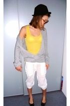 sweater - Zara shirt - H&M shorts - shoes - BIG hat - H&M sunglasses