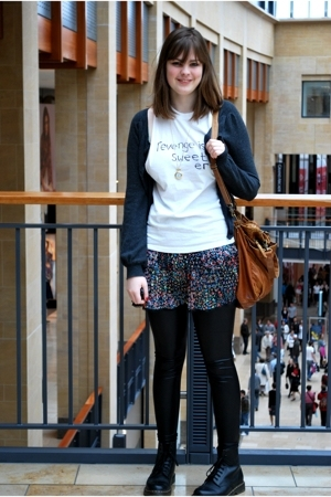 Topshop t-shirt - Newlook skirt - Newlook jacket - Newlook leggings - Topshop ac
