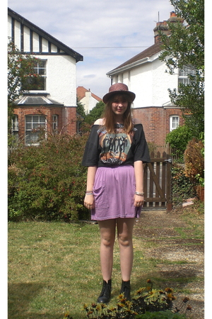 American Apparel skirt - charity shop hat - vintage from Ebay t-shirt - doc mart
