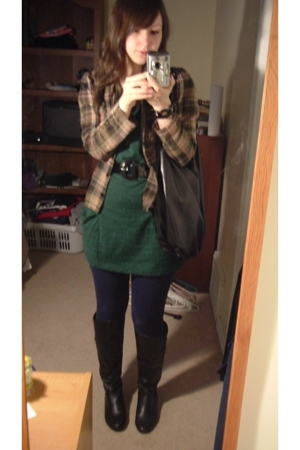 H&M shirt - alternative earth shirt - forever 21 leggings - le chateau boots - P
