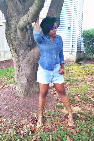 Forever 21 shirt - Levis shorts - Urban Outfitters sandals