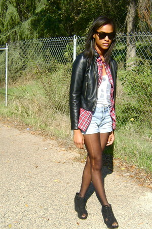 Forever 21 shirt - BDG shorts - Jeffrey Campbell shoes