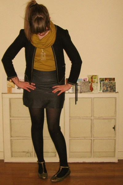 Urban Outfitters blazer - American Apparel shirt - Forever 21 skirt - Urban Outf