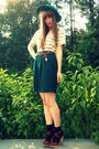 Brown-seychelles-shoes-black-target-socks-green-vintage-thrift-shorts-gree