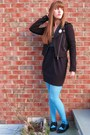 Blue-target-tights-black-urban-outfitters-shoes-black-urban-outfitters-dress
