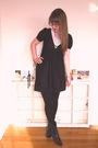 Gold-thrifted-sweater-black-thrifted-boots-black-arwyn-birch-dress-gray-ur