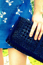Blue-urban-outfitters-dress-blue-vintage-thrifted-purse-blue-vintage-thrifte