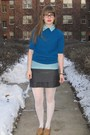 Beige-thrifted-shoes-white-target-tights-blue-vintage-thrifted-shirt-blue-