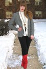 Red-vintage-boots-black-vintage-necklace-black-madewell-jeans-gray-vintage