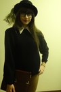 Black-bowler-h-m-hat-black-thrifted-sweater-eggshell-qed-london-shirt