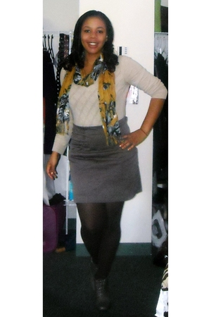 free people shoes - H&amp;M skirt - H&amp;M sweater - Forever 21 scarf