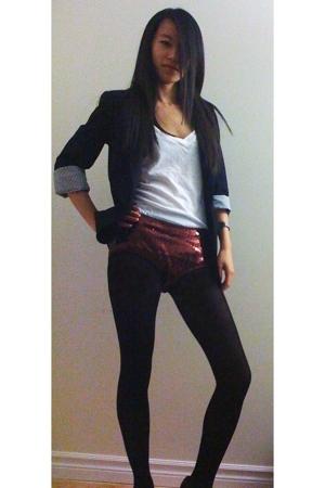 BDG t-shirt - Zara blazer - Urban Outfitters shorts