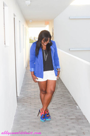 blazer - shoes - shorts - blouse - accessories