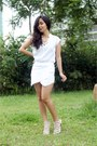 White-skort-ifassion-shorts-white-zara-top-white-janilyn-heels