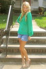 Free-people-blouse-vintage-shorts-jeffrey-campbell-heels