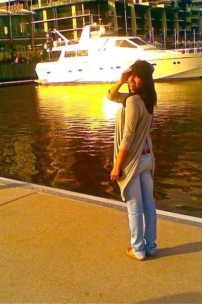 brown bardot belt - brown Rubi shoes shoes - blue Lee Jeans jeans - gray bardot
