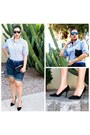 Navy-mossimo-shorts-black-aldo-pumps