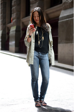 Sass and Bide jeans - shirt-jacket Club Monaco jacket