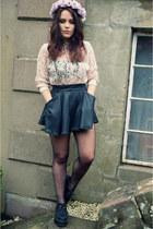 Primark shirt - crown and glory accessories - Miss Selfridge skirt