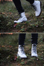 Navy-skinny-cheap-monday-jeans-white-patent-leather-dr-martens-boots